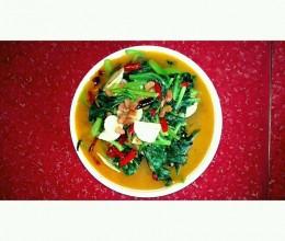 素炒豆豉豆腐菜'