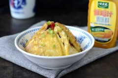 锅塌鸡汁豆腐#太太乐鲜鸡汁中式#