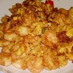 鲜虾仁炒鸡蛋