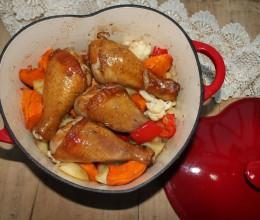 法式时蔬烤鸡腿