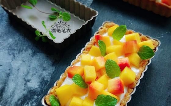 黄桃酸奶挞