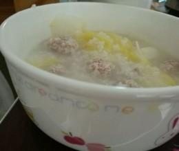 白菜肉糜粥
