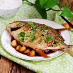 蒜烧金鲳鱼——#我买新鲜味#
