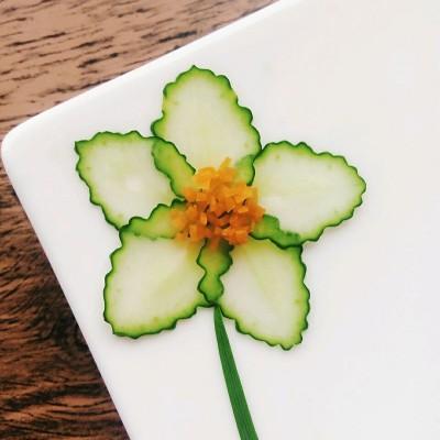 黄瓜切花-水果拼盘