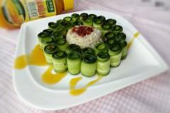 鸡汁黄瓜金针菇#太太乐鲜鸡汁中式#