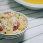 土豆腊肠焖饭