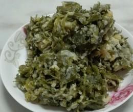 芹菜叶菜馍