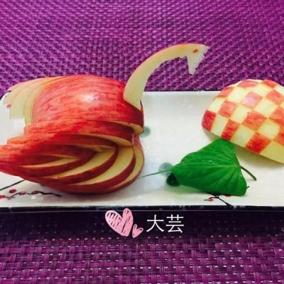 天鹅苹果教程(水果拼盘)