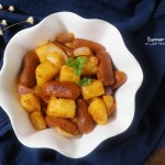 番茄土豆炒脆肠#西王领鲜好滋味#