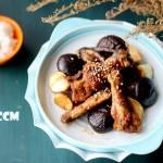 香菇红糖焖鸡块