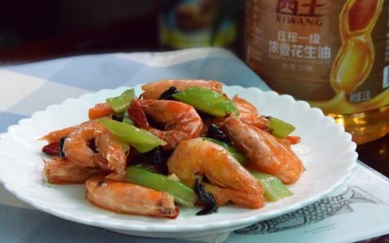 紫苏苦瓜炒虾#西王领鲜好滋味#