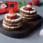 圣诞可可奶油蛋糕