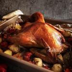 脆皮嫩肉的圣诞烤鸡