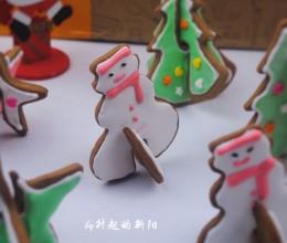 圣诞糖霜3D饼干 #不思烤就很好#