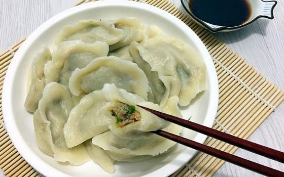 芽苗菜饺子