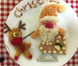 圣诞老人和驯鹿饭