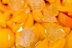 冻黄桃罐头