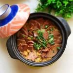 砂锅白菜炖羊肝#月子餐吃出第二春#