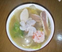 耙豌豆白蘑菇汤
