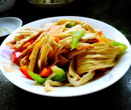 鲜蔬豆腐皮