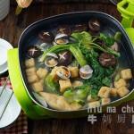 鲜蛤儿菜豆泡锅#利仁美食穿越#