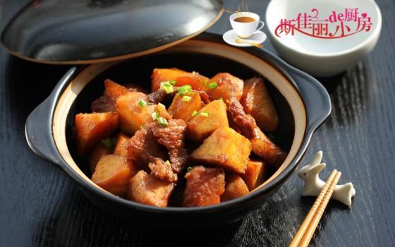 土猪肉烧红薯