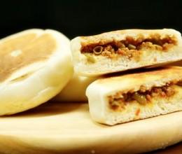 """不用一滴油""""炕""""出来的豇豆肉末饼!【微体兔菜谱】"""