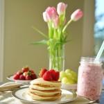 早餐之Pancake&草莓奶昔
