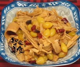 银杏炒腐竹