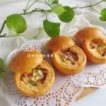 暖胃健康早餐|番茄咸肉面包