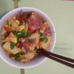 土豆臘腸燜飯