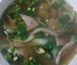 猪肝青菜汤