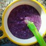 宝宝辅食#紫薯米糊#