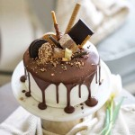巧克力淋面蛋糕-祝自己生日快乐