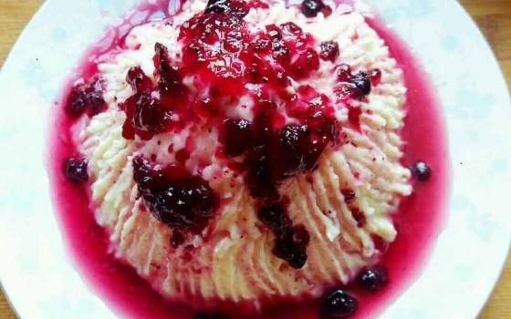 蓝莓山药泥(高仿冰淇淋)
