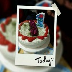 周岁水果生日蛋糕