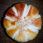 椰蓉花朵面包