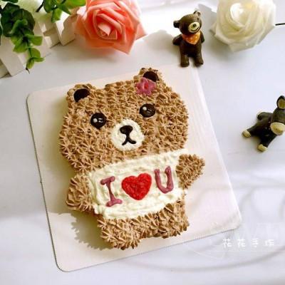 简易超萌小熊蛋糕