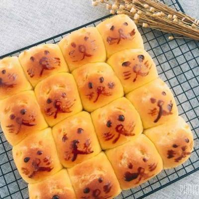小猫咪南瓜小餐包