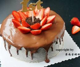 奥利奥咸奶油巧克力淋面蛋糕