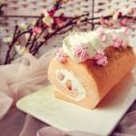 樱花草莓蛋糕卷