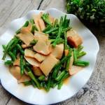 豆角烧杏鲍菇