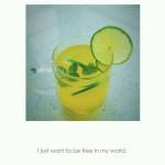 柠檬百香果饮