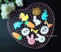 可爱小动物糖霜饼干#我的烘焙不将就#