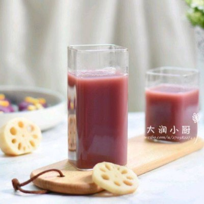 清肺藕梨紫薯饮