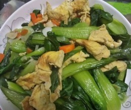小青菜炒鸡蛋