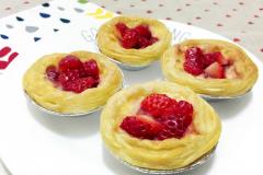 春天必备 超级简单的草莓蛋挞