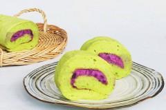 菠菜紫薯卷