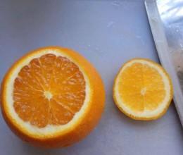咳嗽偏方~盐蒸橙子
