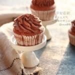 可可杯子蛋糕#我的烘焙不将就#